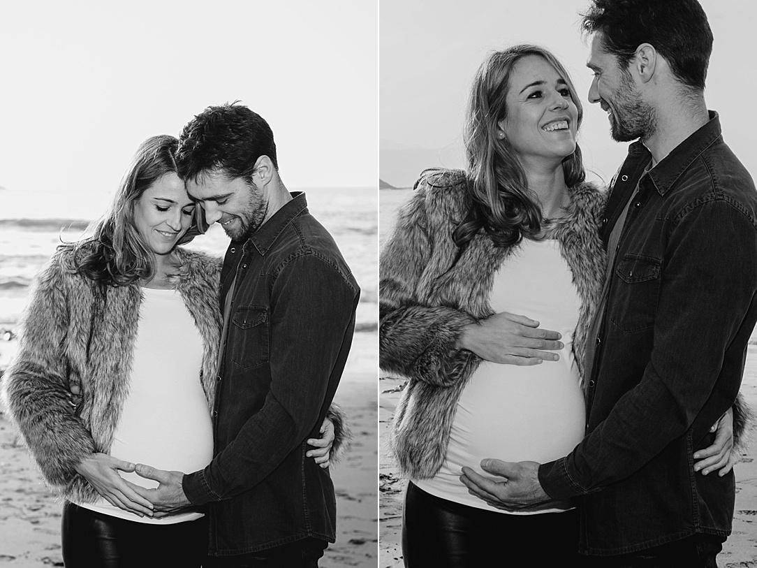 Fotografía de embarazo en Zumaia